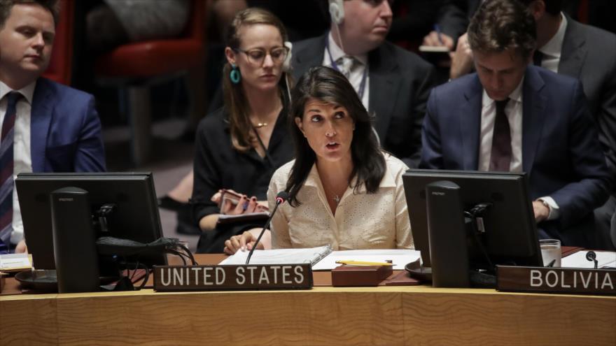 Nikki Haley aplaude a Israel por asesinar a palestinos con 'moderación'