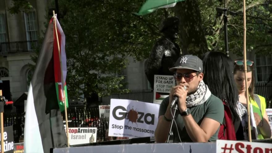 Británicos se manifiestan en apoyo a los palestinos en Día de la Nakba