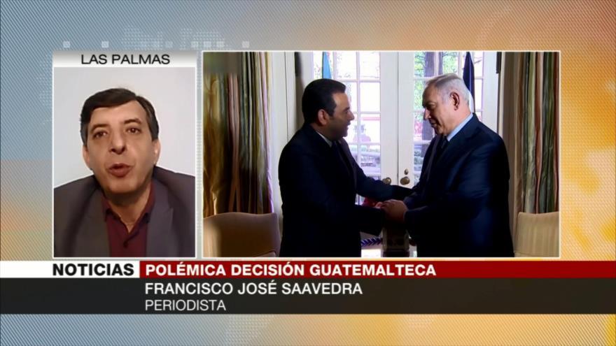 José Saavedra: Medida guatemalteca sobre Al-Quds tiene motivos económicos