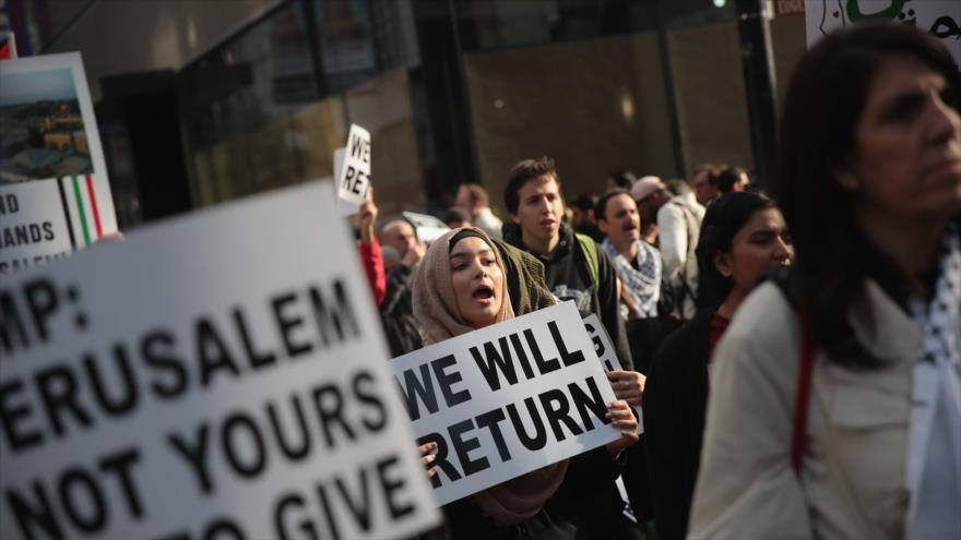 Palestinos continúan protestas antisraelíes en Gaza y Cisjordania