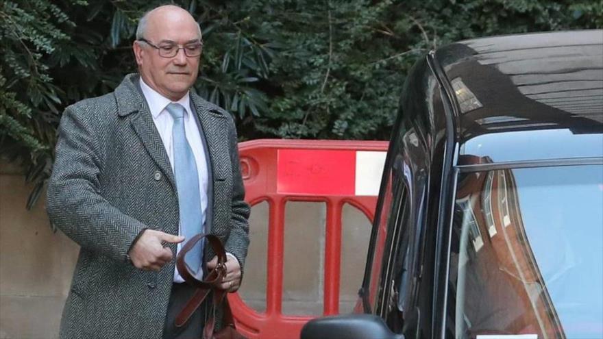 El presidente ejecutivo de Oxfam, Mark Goldring, Londres, capital británica, 12 de febrero de 2018.