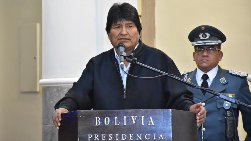 Evo Morales, presidente de Bolivia, en un acto público celebrado en La Paz, 17 de mayo de 2018.