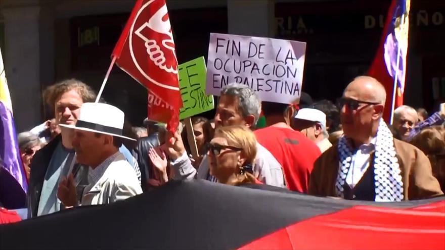 IU y CGT denuncian masacre de Israel contra Palestina en la Nakba