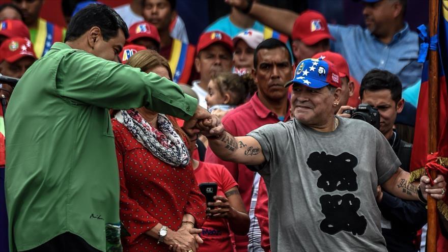 Maduro recibe apoyo de Erdogan y Maradona en cierre de campaña | HISPANTV