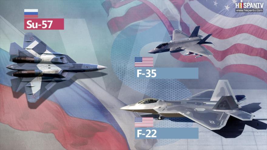 Tecnologías furtivas del caza ruso Su-57 vs. el F-22 y F-35 de EEUU | HISPANTV