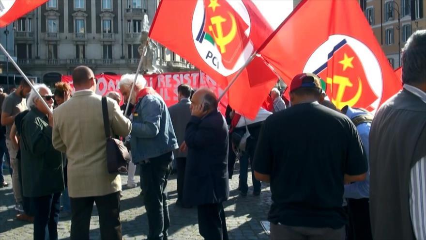 Italianos se solidarizan con Palestina ante atrocidades israelíes