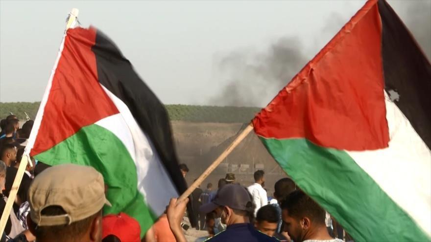 Palestinos continúan sus manifestaciones contra represión israelí