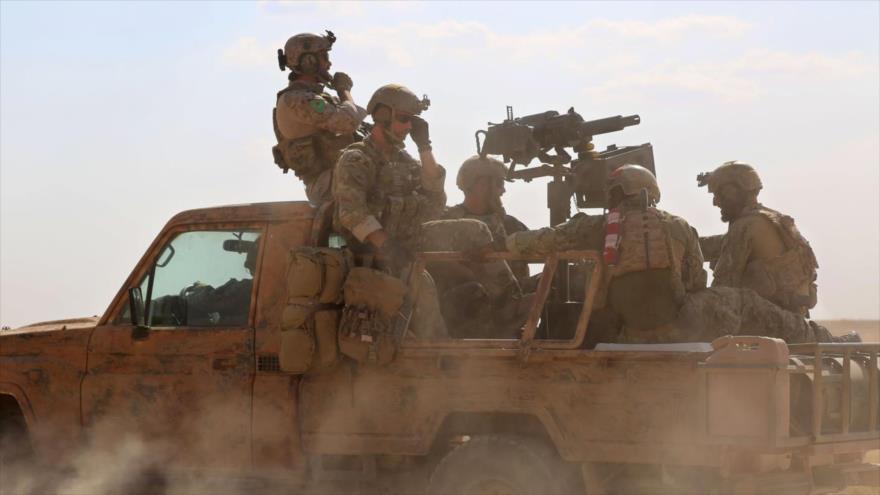 Tropas estadounidenses desplegadas en el territorio sirio.