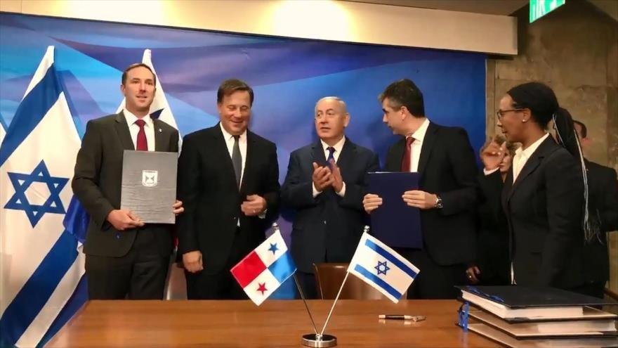Movimientos sociales panameños rechazan firma de TLC con Israel
