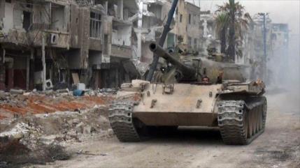 Ejército sirio logra un gran avance ante Daesh en el sur de Damasco