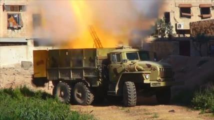 Equipo militar avanzado ruso destruye blancos de Daesh en Damasco