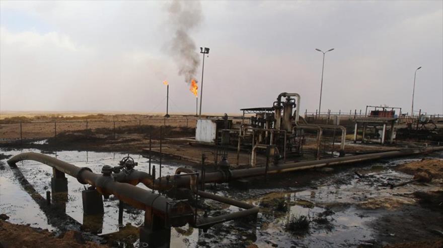 Campo de petróleo en Siria.