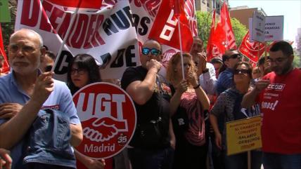 Miles de trabajadores demandan mejoras salariales en España