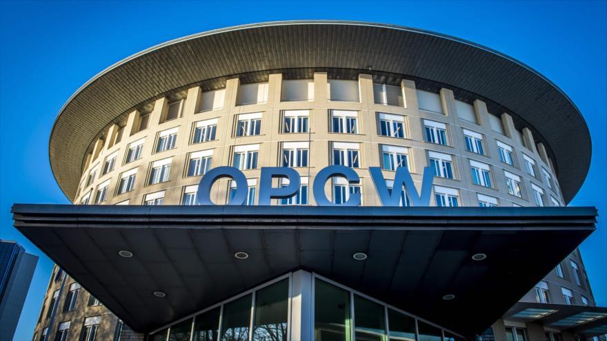 El edificio de la Organización para la Prohibición de las Armas Químicas (OPAQ) en la ciudad neerlandesa de La Haya, 15 de noviembre de 2013.