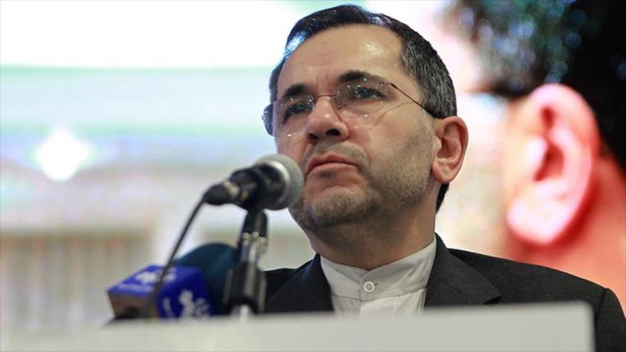 El vicecanciller iraní para Asuntos de América y Europa, Mayid Tajt Ravanchi, durante una entrevista.