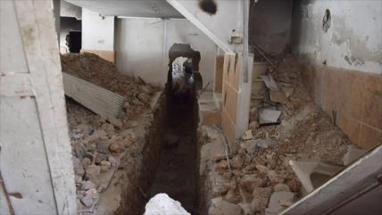 Vídeo: Ejército sirio halla gran red de túneles de EIIL en Damasco
