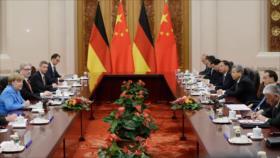 Merkel reafirma el apoyo de Alemania y China a pacto nuclear iraní