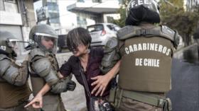 20 estudiantes chilenos reciben heridas por la represión policial