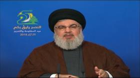 Nasralá: Hezbolá no permite que EEUU derroque al Gobierno sirio