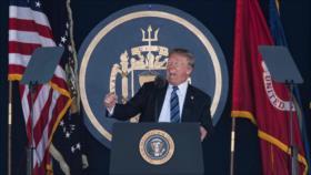 Trump aboga por expandir flota de EEUU para 'dominar' los océanos