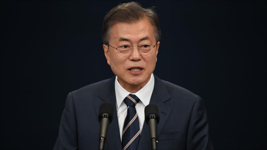 Moon propone cumbre con Kim y Trump para terminar Guerra de Corea