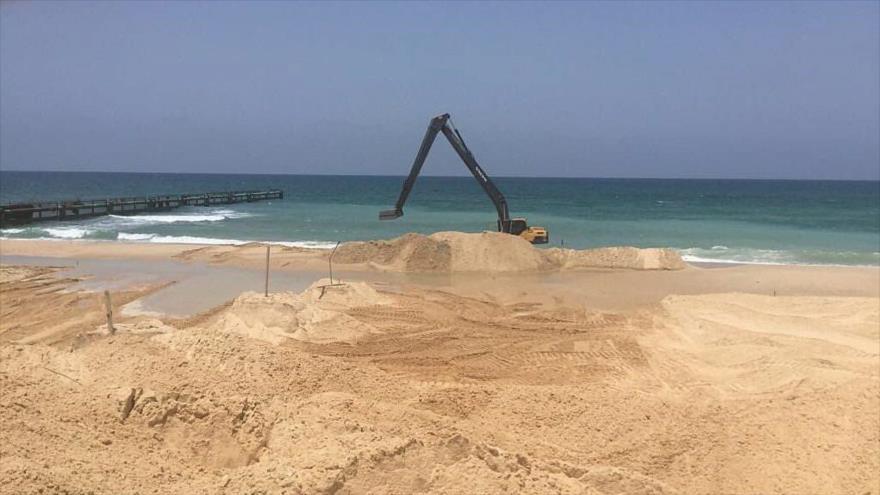 Israel inicia construcción de barrera marítima en límites de Gaza
