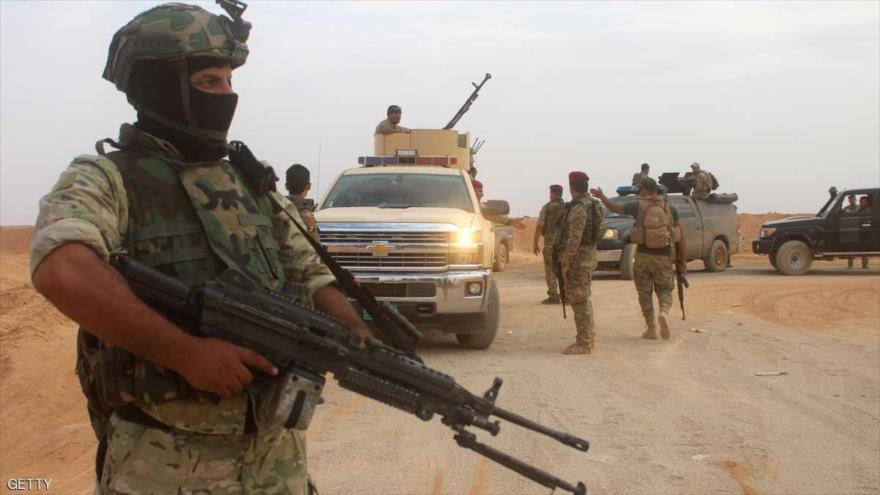 Fuerzas del Ejército iraquí desplegadas en la provincia occidental de Al-Anbar, 15 de septiembre de 2017.