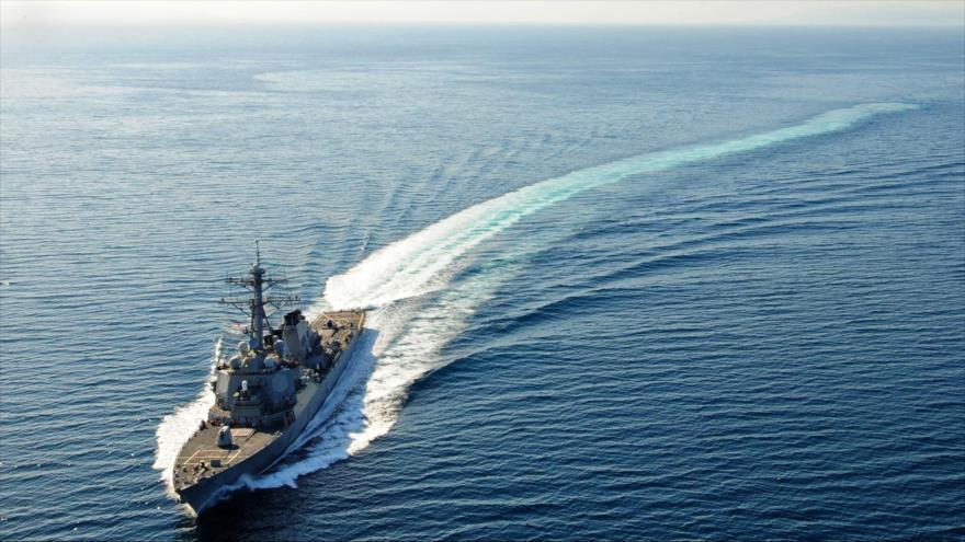 El destructor de misiles USS Higgins de la Armada de EE.UU.
