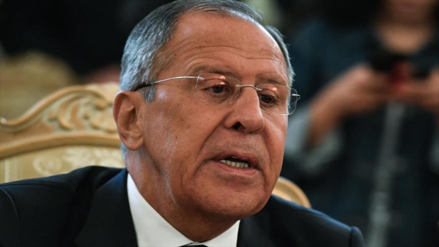 El ministro de Asuntos Exteriores de Rusia, Serguéi Lavrov, asiste a una reunión con su homólogo alemán en Moscú, 10 de mayo de 2018.