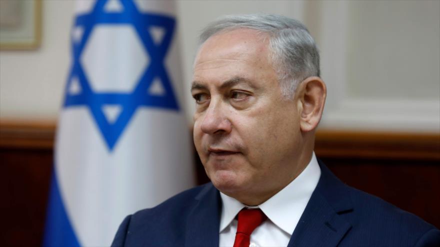El primer ministro del régimen de Israel, Benjamín Netanyahu, 27 de mayo de 2018.