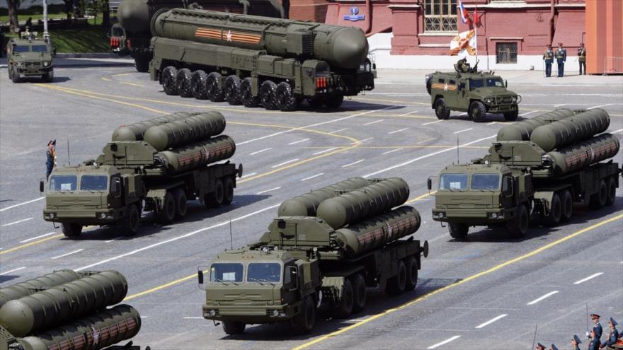 Sistemas antiaéreos S-400 de las Fuerzas Armadas de Rusia.