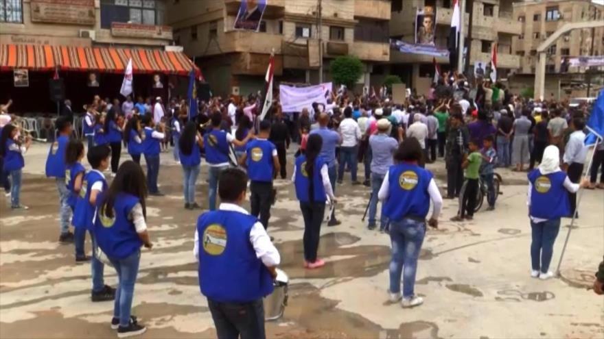 Autoridades locales sirias entran a distritos de Damasco liberados