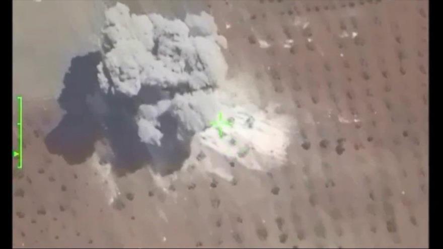 Vídeo: Dron ruso graba cómo Siria abate a terroristas en Hama