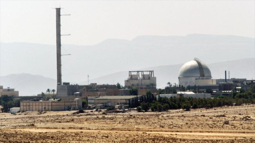 Reactor nuclear israelí a las afueras de Dimona, en el desierto de Néguev (centro sur de Palestina ocupada).