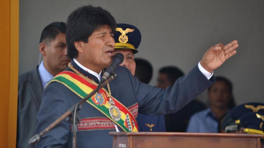 El presidente de Bolivia, Evo Morales, en un acto público en Santa Cruz, 31 de mayo de 2018.