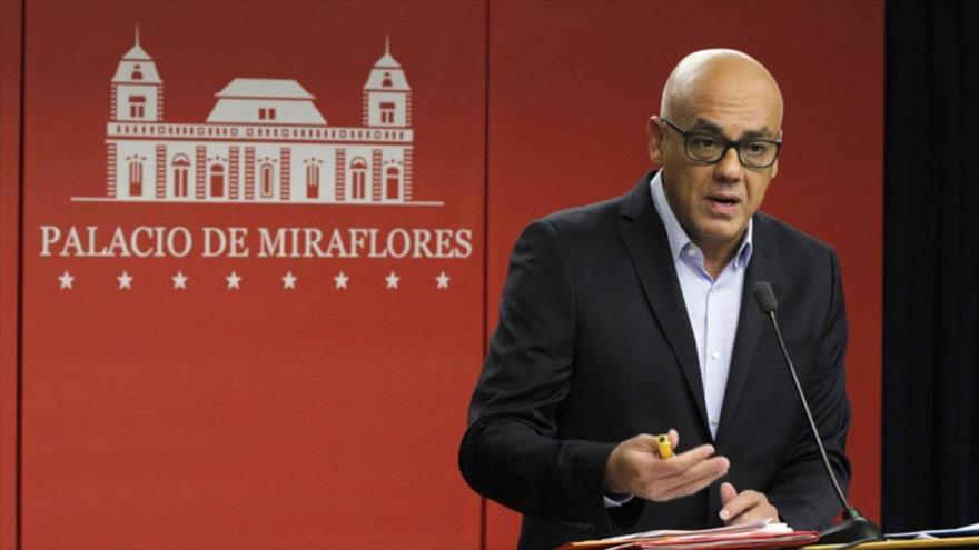 El ministro venezolano de Comunicación, Jorge Rodríguez.
