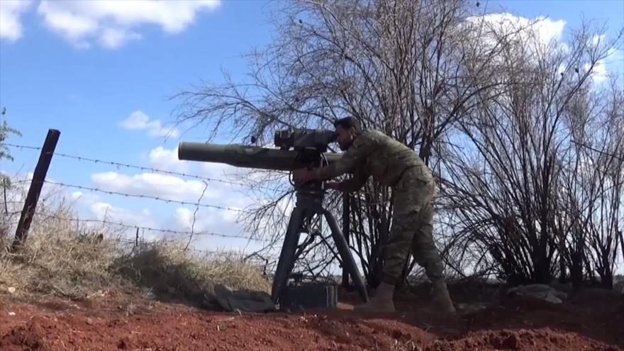 Vídeo: Rebeldes matan con misiles TOW a soldados sirios