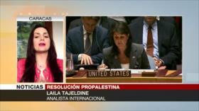 Laila Tajeldine: Israel y EEUU cierran salidas a paz en Palestina