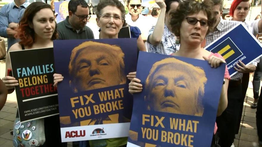 Protestan contra políticas migratorias de Donald Trump