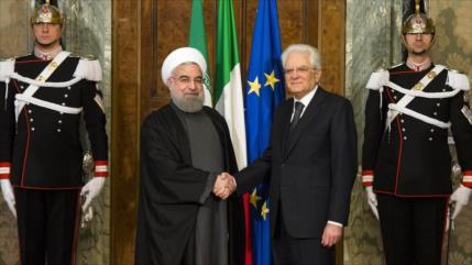 Presidente iraní insiste en la profundización de lazos con Italia