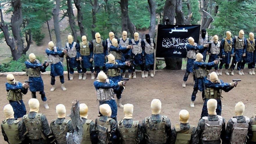 Miembros de la filial del grupo terrorista EIIL en Afganistán.