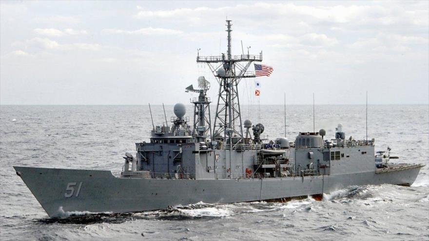Un buque de guerra de la Armada de EE.UU.
