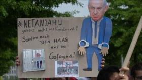 Manifestantes alemanes gritan: 'Netanyahu no es bienvenido'