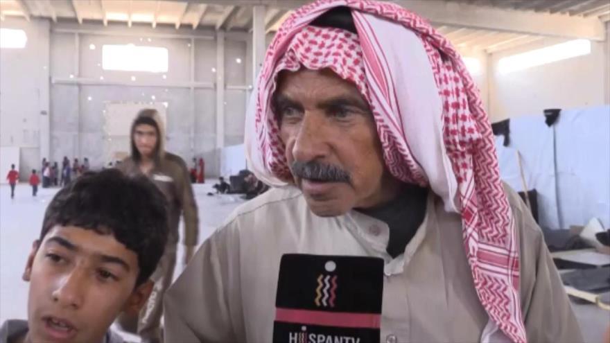 Refugiados sirios en la frontera con Jordania vuelven a su país