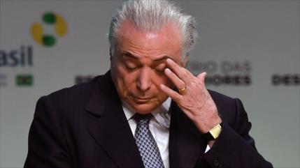 Piden levantar secreto telefónico de Temer por caso de corrupción
