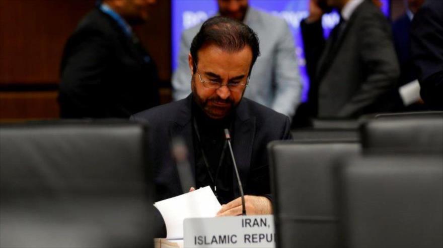 El representante de Irán ante la Agencia Internacional de Energía Atómica (AIEA), Reza Nayafi, en Viena (Austria).