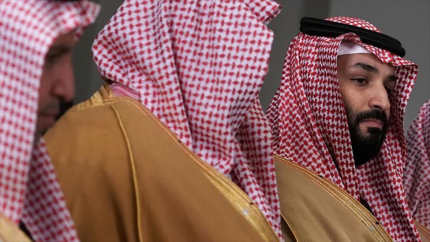 El príncipe heredero saudí, Muhamad bin Salman al Saud (dcha.), durante una visita en Estados Unidos, 22 de marzo de 2018.