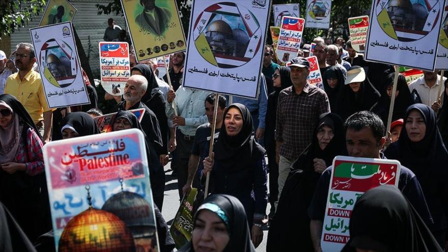 Irán celebra multitudinarias marchas en el Día Mundial de Al-Quds