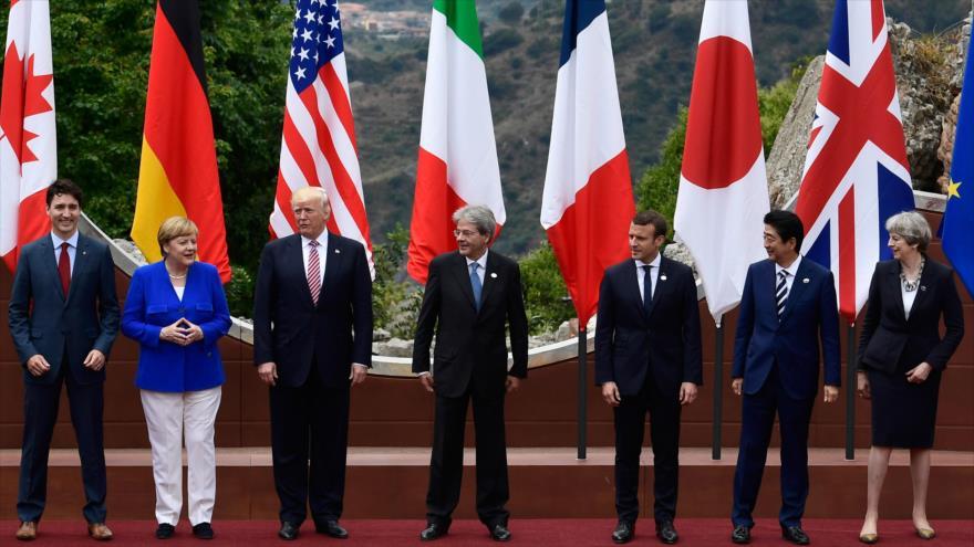 La 43.ª Cumbre del G7 en Sicilia, Italia, mayo de 2017.