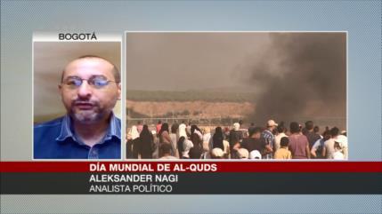 Aleksander Nagi, Francisca Quiroga y Jofré Leal abordan Día de Al-Quds